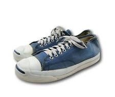 Vintage Jack Purcell Usa Converse Blue Canvas Athletic Sneakers Shoes Sz 8.5-9