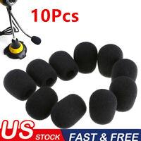 10Pcs Microphone Headset Windscreen Sponge Foam Mic Cover Protectors 30x8MM US