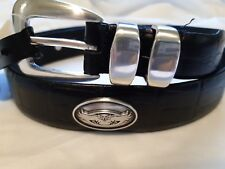Men's Black Leather Belt with Florida Atlantic State University Conchos 34 R