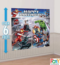 Avengers Birthday Party Supplies SCENE SETTER 5 PC Wall Decorating Kit BACKDROP