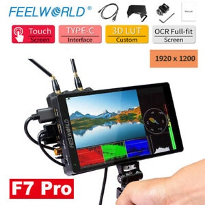 """FEELWORLD F7 Pro 7"""" On-Camera Director Monitor Touch 3D LUT 4K@60Hz 1920X1200"""