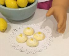 Miniature Dollhouse Lemon tea cakes 1:3 scale AG doll bjd fake food fruit 18 in