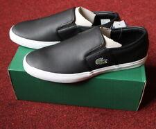 $100 NIB Men Lacoste Gazon 316 Black Leather Shoe 11 Slip-on Fashion Loafer New