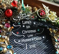Personalised Babies 1st Christmas Tree Decoration Gift