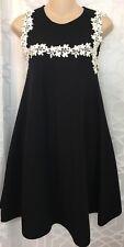 Giambattista  Valli Dress Black And White Embroidered  NWTSize 38 XXS