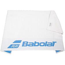 BABOLAT Serviette Blanc W / Bleu 50x100cm-Logo-SPORTS-TENNIS - Badminton Squash