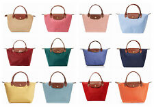 New Longchamp Le Pliage Type S Small Tote Red Pink Grey Black Orange Khaki Navy