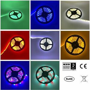 RGB LED STRIP LIGHTS COLOUR CHANGING FLEXBILE TAPE LIGHTING SMD DC12V