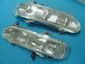 2 MIRROR CRYSTAL LENS LED TURN SIGNALS FOR 1998-2001 MERCEDES BENZ W220 S-CLASS