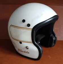 Vintage Bell Tour Lite Motorcycle Helmet - White - 6 7/8