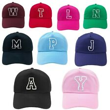 Kids Baseball Cap Boy Girl Adjustable Children Youth Hat Letters A-Z Embroidery