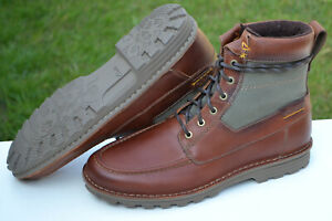 Clarks BNIB Mens Hiking Walking Boots SAWTEL HI Tan Leather UK 11 / 46