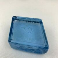 Boyd Art Glass Diamond Shape Logo Paperweight / Color Sample -  Ice Blue