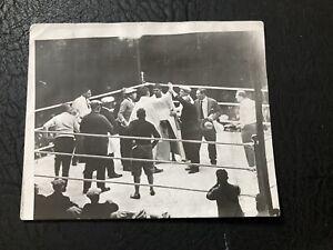1927 Jack Dempsey Vs. Gene Tunney Original Type 1 Boxing Photo Mint 4x5