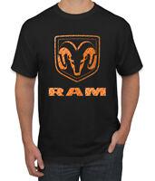 Dodge RAM Logo Mens Cars and Trucks T-Shirt Graphic Car Tee