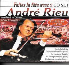 COFFRET 2 CD ALBUM 29 TITRES--ANDRE RIEU--FAITES LA FETE / ALBUM DE LA FETE-NEUF