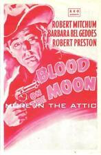 ROBERT MITCHUM WISE BARBARA BEL GEDDES BLOOD ON THE MOON ORIG RKO WESTERN HERALD