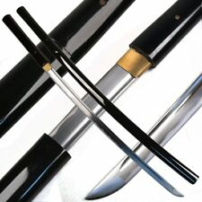 Handmade Japanese Shirasaya Samurai Katana Sharp Sword Black