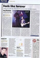 JOY DIVISION - LES BAINS DOUCHESoriginal press clipping22x30cm