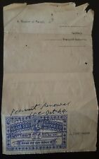 Used offical Stationary of  India Feudatory Holker state in 1949