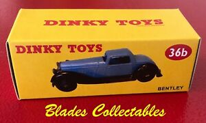 DINKY TOY 36b QUALITY REPRO BOX BENTLEY by Blades Collectables