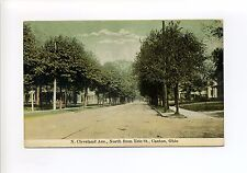 Canton OH Ohio N. Cleveland Ave, North from Erie Street, 1910 antique postcard