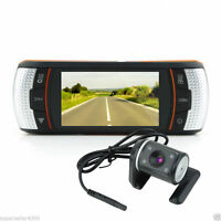 "HOT 2.7"" Dual Lens 1080P Full HD Car DVR Camera Video Recorder Dash Cam 30FPS"