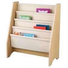 KidKraft Wood & Canvas Sling Shelf Kids Book Case Shelf - Natural (Open Box)