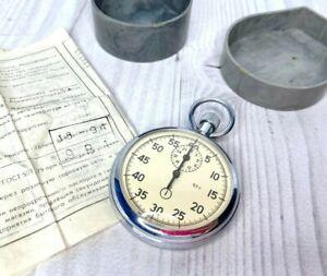 Soviet Stopwatch Mechanical Vintage RUSSIA Stopwatch