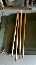 SET OF 4 FOLDING COT INSECT PROTECTIVE NETTING POLE ARMY SURPLUS