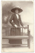 Edwardian Lady wearing a Large Hat RP Postcard by Leeson of Northampton, Unused