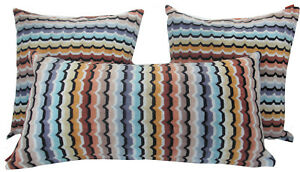 "MISSONIHOME  PILLOW COVER MASTER MODERNO OMAR 160- 16x16"" -12x24"" COTTON VELOUR"
