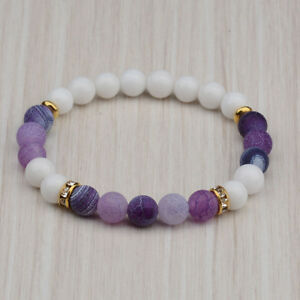 2021 New Fashion Women's Yoga Bead Charm Agate Stretch Lovely Men Bracelets