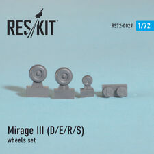 1/72 Dassault Mirage III (D/E/R/S) Wheels for PJ Production/R.V.Aircraft kits