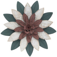 Metal & wood Layered Flower Wall Decor.  Make Stunning display in any Place