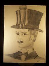 Greatest Showmen Portrait 1944 Original Pencil Sketch By C. Kelm