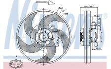 NISSENS Ventilador, refrigeración del motor PEUGEOT 206 206+ 85672