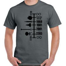 Spaceship Timeline T-Shirt Star Wars Dr Who Star Trek NASA Tardis Mens Funny