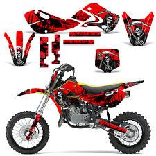 Decal Graphic Kit Kawasaki KLX110 KX65 KX Dirt Bike Suzuki RM65 DRZ110 REAP RED