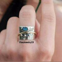 Labradorite Ring 925 Sterling Silver Spinner Ring Meditation Ring Jewelry C20