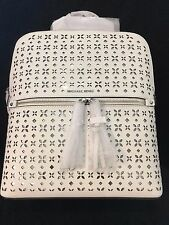 "MICHAEL KORS Rhea zip medium slim backpack leather "" OPTIC WHITE ""  NWT"