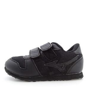Mizuno Run Kids Mono [K1GD184009] Kids Preschools Running Shoes Black / Black