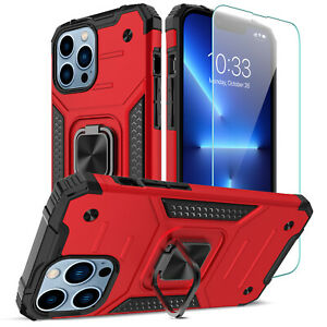For iPhone 13 Pro Max 13 Mini Phone Ring Holder Case Cover Lens&Screen Protector