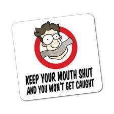 Keep Your Mouth Shut Sticker Decal Boat Fishing Tackle 4x4 #5398ST