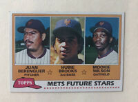 1981 Topps #259 Berenguer/Hubie Brooks RC/Mookie Wilson RC METS Free Shipping