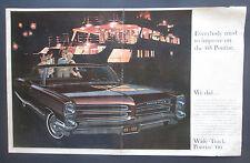 1966 Pontiac Bonneville Double Page Original Vintage Print Ad