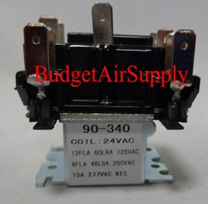90-340 Switching Fan Relay DPDT 24VAC HVAC  Replaces R8222D1014 & 90340