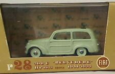 BRUMM R28 FIAT 500C BELVEDERE diecast model road car pale green body black 1:43