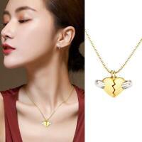 Magnetische Paar Halskette Set Herzform Medaillon Anhänger Schmuck Valentinstag