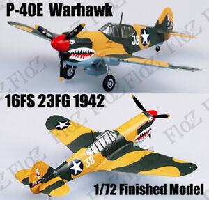 WWII P-40 E Warhawk 16FS 23FG 1942 1/72 finished plane Easy model